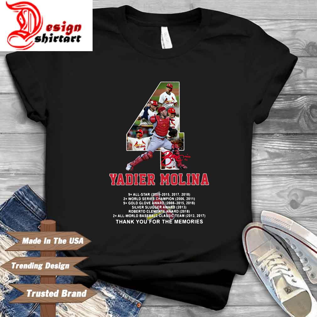 4 Yadier Molina St. Louis Cardinals thank you for the ...